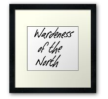 Wardeness of the North Framed Print