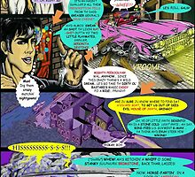 """Code Name: King #2"" Comic Book Page Art - 'No Horse Fartin' in The Caddy' by TexWatt"
