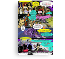 """""""Code Name: King #2"""" Comic Book Page Art - 'No Horse Fartin' in The Caddy' Canvas Print"""