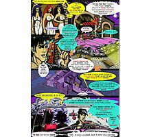 """Code Name: King #2"" Comic Book Page Art - 'No Horse Fartin' in The Caddy' Photographic Print"