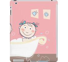 Children's bath - beautiful kids in bath iPad Case/Skin