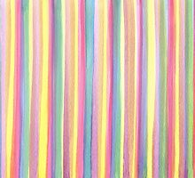Watercolor Stripes by Susan S. Kline