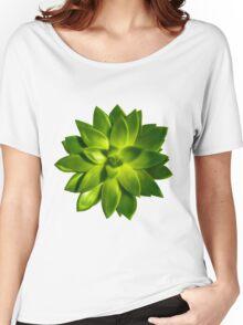 MINI GREEN SUCCULENT MANDALA Women's Relaxed Fit T-Shirt