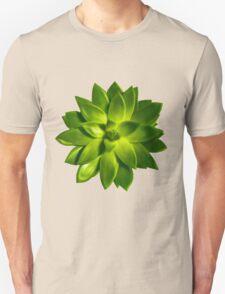 MINI GREEN SUCCULENT MANDALA Unisex T-Shirt
