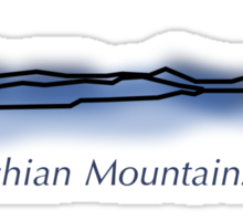 Appalachian Mountain Range Sticker