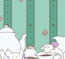 Peach Tea Bunnies - Green Sticker