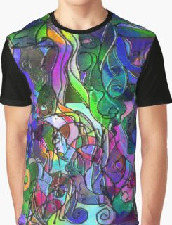 It Was the Very First Day: Colorful Abstract Art Graphic T-Shirt