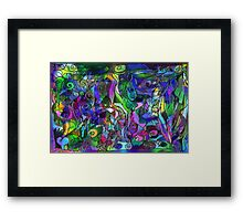 It Was the Very First Day: Colorful Abstract Art Framed Print