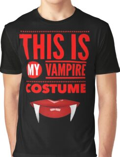 Funny Halloween TShirt Hoodie Costume This is my Vampire Costume Graphic T-Shirt
