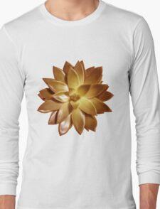 MINI GOLD SUCCULENT MANDALA Long Sleeve T-Shirt
