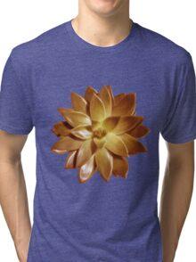 MINI GOLD SUCCULENT MANDALA Tri-blend T-Shirt