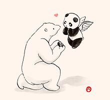 When A Polar Bear Loves A Panda by Panda And Polar Bear