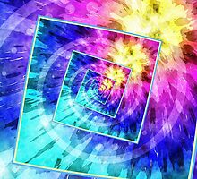 Spinning Tie Dye Abstract by Phil Perkins