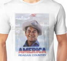 America Reagan Country - Vintage 1980s Campaign Poster Unisex T-Shirt
