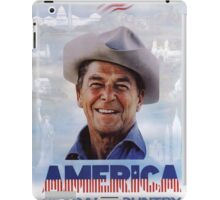 America Reagan Country - Vintage 1980s Campaign Poster iPad Case/Skin