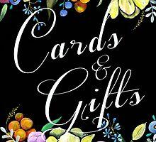 Cards and Gifts Wedding Sign by BbArtworx