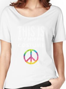 Funny Halloween TShirt Hoodie Costume This is my Hippie Costume Women's Relaxed Fit T-Shirt