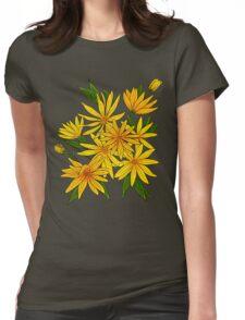 Jerusalem artichokes bouquet. Womens Fitted T-Shirt
