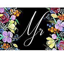 'Mr' Groom Sign or Card Photographic Print