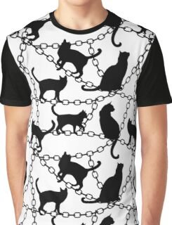 Black cats Graphic T-Shirt
