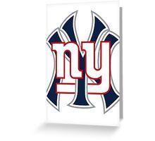 New york Sports Greeting Card