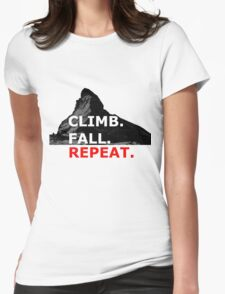 Climb. Fall. Repeat Womens Fitted T-Shirt
