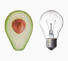 Random avocado and lightbulb Kids Clothes