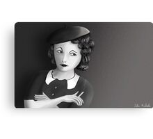 Film Noir Female Character Smoking Cigarette Looking Aside  Canvas Print
