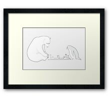 Winter Games Framed Print