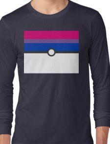 LGBT+ Bi Pride PokeBall Long Sleeve T-Shirt