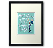 Jimmy the Prosecco Elf Framed Print