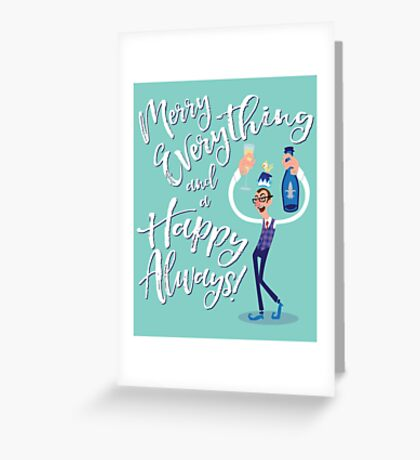 Jimmy the Prosecco Elf Greeting Card