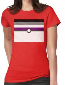 LGBT+ Ace Pride PokeBall Womens Fitted T-Shirt