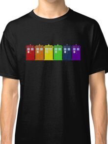 Rainbow Tardis' Classic T-Shirt