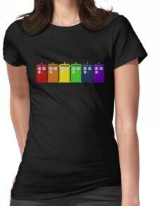 Rainbow Tardis' Womens Fitted T-Shirt