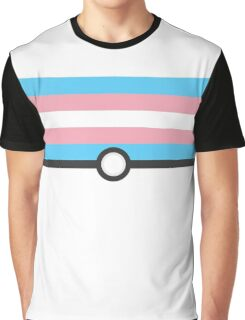 LGBT+ Trans Pride PokeBall Graphic T-Shirt