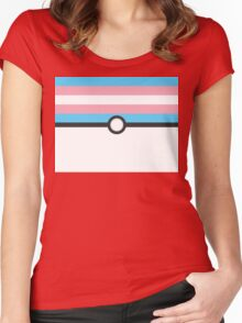 LGBT+ Trans Pride PokeBall Women's Fitted Scoop T-Shirt