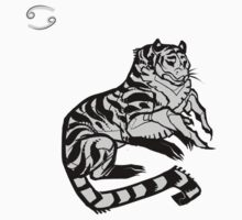 DoubleZodiac - Cancer Tiger One Piece - Short Sleeve