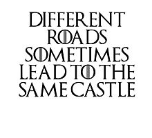 Different roads sometimes lead to the same castle Photographic Print