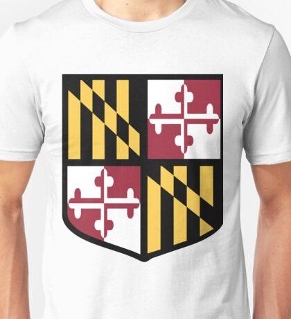 Maryland Flag Shield  Unisex T-Shirt