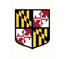 Maryland Flag Shield  Art Print