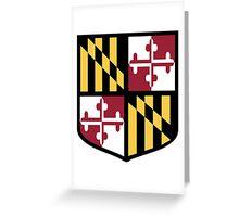 Maryland Flag Shield  Greeting Card