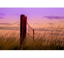 Sunset over the Farm Gate Photographic Print