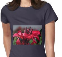 Canna Lily Womens Fitted T-Shirt
