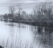 Along The Misty River Sticker