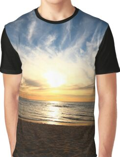 Sunset on Seaford Beach 4 Graphic T-Shirt