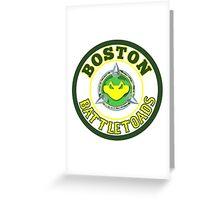 Boston Battletoads Greeting Card