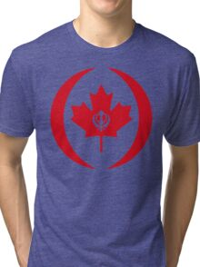 Canadian Sikh Multinational Patriot Flag Series Tri-blend T-Shirt