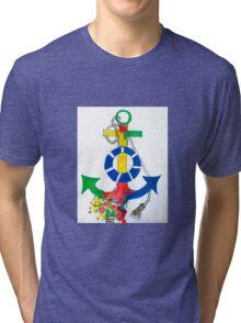 Floral Nautica  Tri-blend T-Shirt