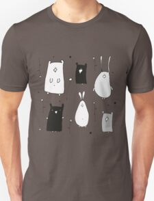 Teddy and Co on Gray Unisex T-Shirt